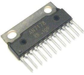 AN7178 - nf zesilovač 2x5,7W, SIP12