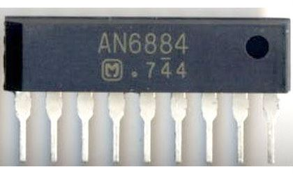 AN6884 - VU metr, 5xLED /KA2284,KIA2284,DBL1016,BA6124,BA6125/