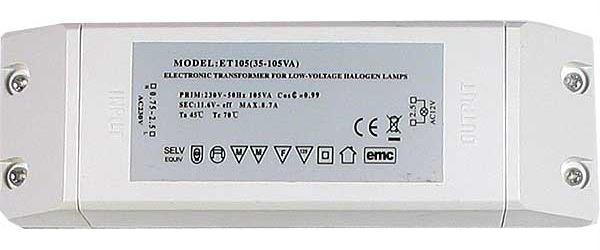 Elektronický transformátor ET-105 12V AC, pro osvětlení
