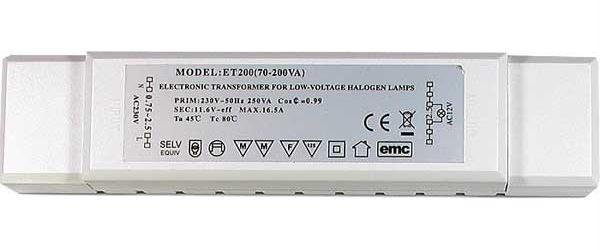 Elektronický transformátor ET-200 12V AC, pro osvětlení