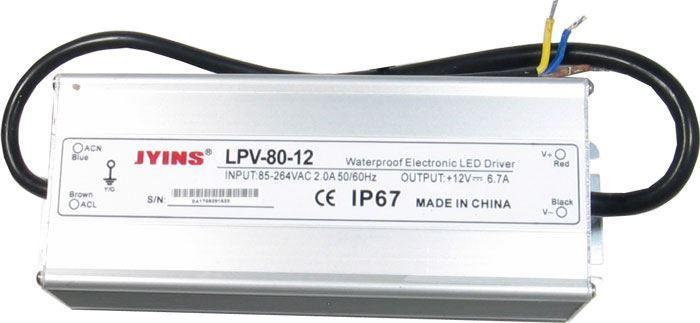 Zdroj-LED driver 12VDC/80W LPV80-12, JYINS