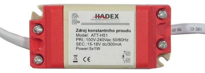 Zdroj-LED driver 5W, 7-18V/300mA pro 3-5LED 1W, napájení 230V