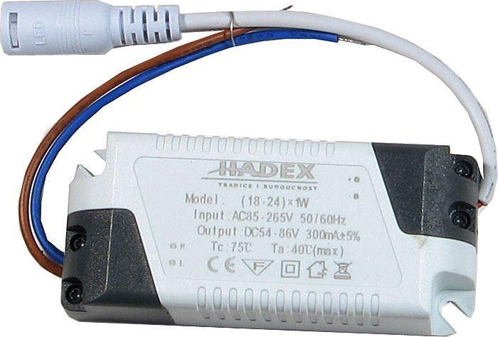 Zdroj-LED driver 18-24W, 230V/54-86V/300mA pro podhled.světla M121-125