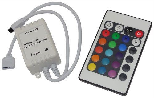 Ovládač LED pásků RGB 12V/3x2A , IR D.O. 24 tlačítek