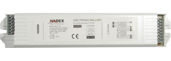 Elektronický předřadník EB-4x18 pro 4 zářivky 18W