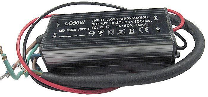 Zdroj- LED driver 50W, 30-40V/1500mA pro LED 50W ,IP65, napájení 230V