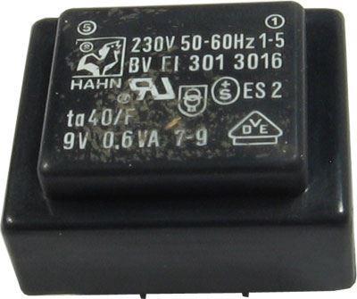 Trafo DPS 9V/0,6VA  HAHN Ta40/F, 27x32,5x15mm
