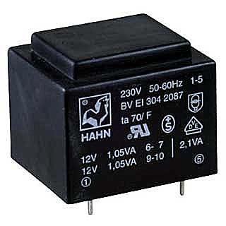Trafo DPS 1,9VA 1x12V(0,16A)  27,5x32,5x23,8  HAHN