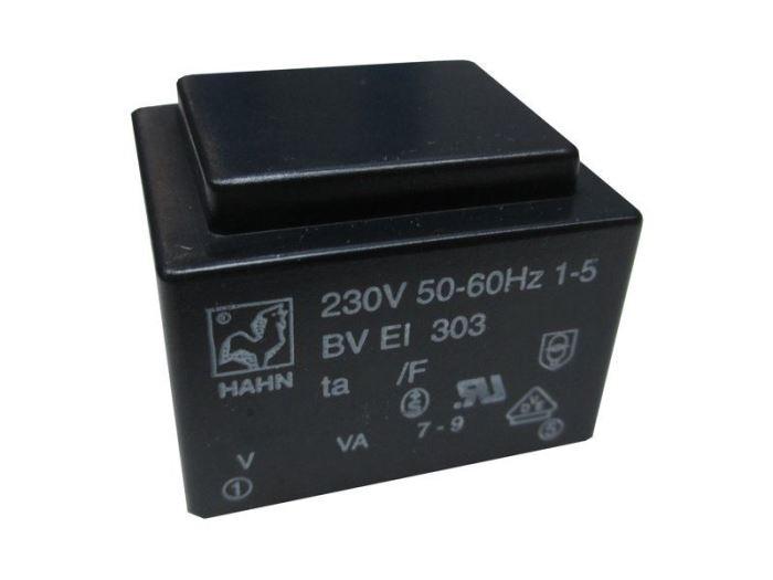 Trafo DPS 1,9VA 1x6V(0,32A)  27,8x32,8x23,8  HAHN