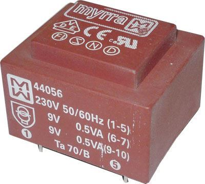 Trafo DPS 1VA 2x18V MYRRA 44059