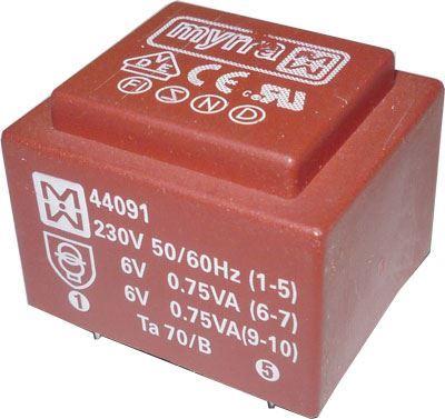 Trafo DPS 2VA 2x9V MYRRA 44128