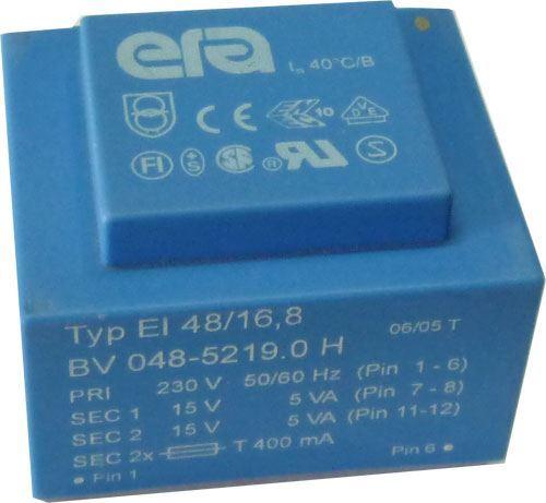 Trafo DPS 10VA 230V/2x15V ERA