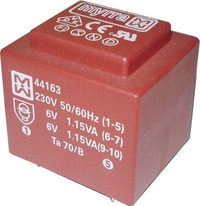 Trafo DPS 2,3VA 2x6V MYRRA 44163