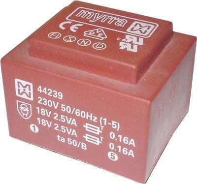 Trafo DPS 5VA 2x18V MYRRA 44239