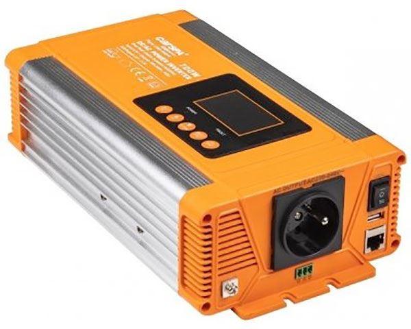 Měnič napětí 24V/230V 700W, CARSPA PX700, čistá sinus.D.O.drátové