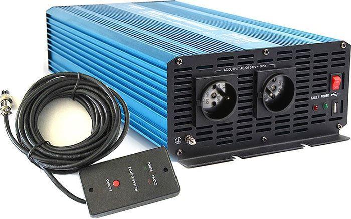 Měnič napětí 24V/230V 3000W, CARSPA P3000, čistá sinus.D.O.drátové
