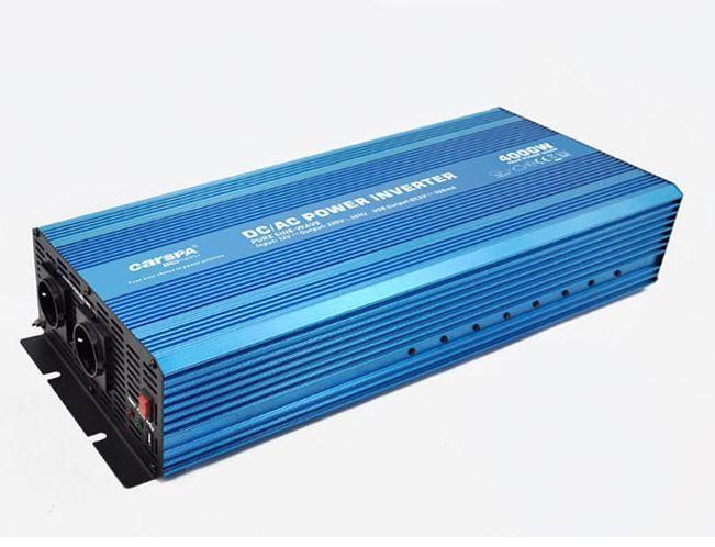 Měnič napětí 12V/230V 4000W, CARSPA P4000, čistá sinusovka