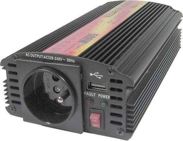 Měnič 12V/230V 500W,modifikovaná sinus,CARSPA