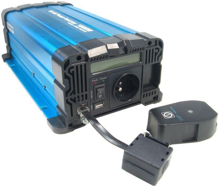 Měnič napětí 12V/230V+USB 1000W Solarvertech FS1000-212 + D.O., č. sin
