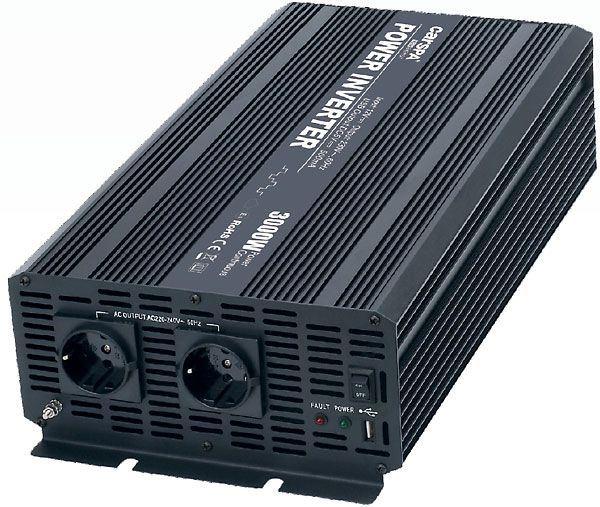 Měnič napětí 12V/230V+USB 3000W, CARSPA CAR3K, modifikovaná sin.