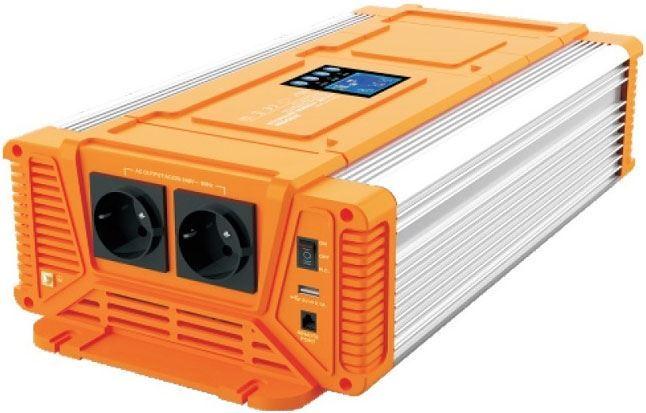 Měnič napětí 24V/230V 2000W, CARSPA PX2000,čistá sinus.D.O.drátové