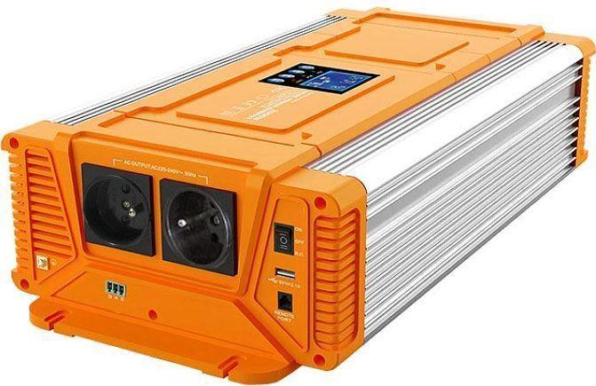 Měnič napětí 12V/230V 3000W, CARSPA PX3000, čistá sinus.D.O.drátové