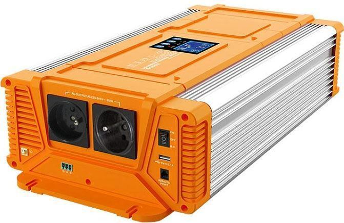 Měnič napětí 24V/230V 3000W, CARSPA PX3000, čistá sinus.D.O.drátové