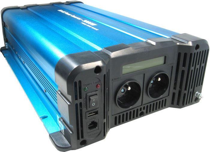 Měnič napětí 24V/230V+USB 3000W, Solarvertech FS3000-224, čistá sin.