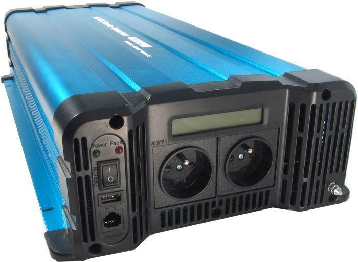 Měnič napětí 12V/230V+USB 4000W, Solarvertech FS4000-212, čistá sin.