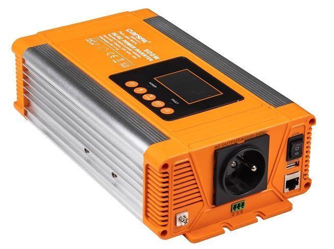 Měnič napětí 24V/230V 500W, CARSPA PX500+USB, čistá sinusovka
