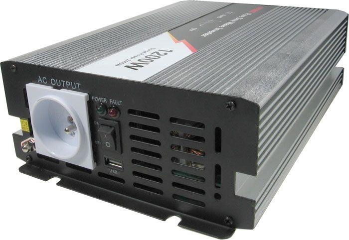 Měnič napětí 12V/230V+USB 1200W, čistá sinusovka, JYINS JYP 1200