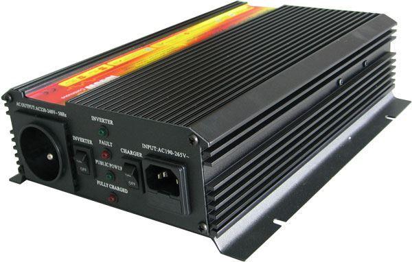 Měnič+UPS+nabíječ 12V/230V/1000W, mod.sin. CARSPA UPS1000 po opravě