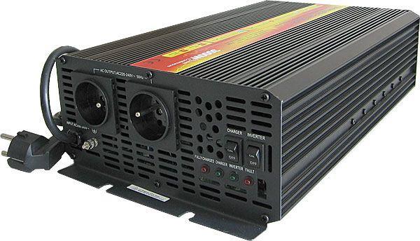 Měnič+UPS+nabíječ 12V/230V/3000W, modif.sinus. CARSPA UPS3000