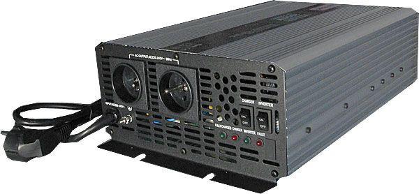 Měnič 12V/230V+UPS 2000W, čistá sinusovka, CARSPA