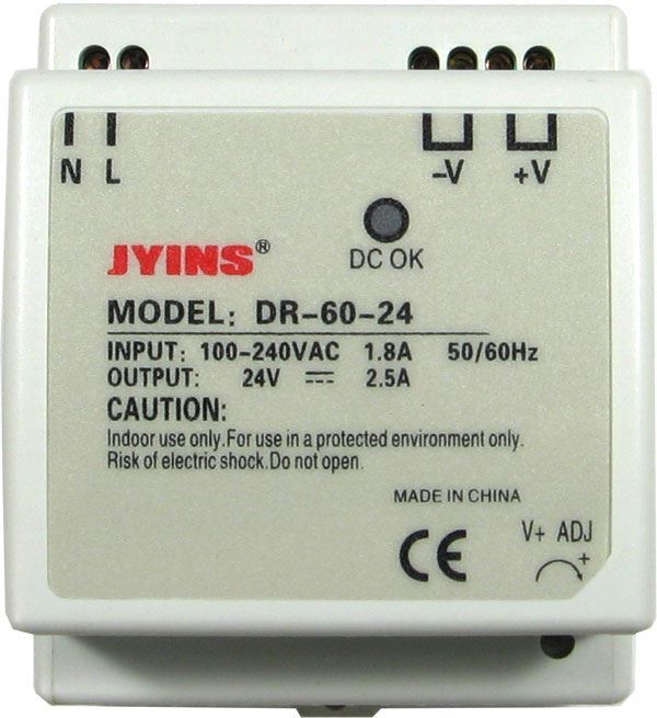 Zdroj 24V=/60W spínaný DR-60 na DIN lištu