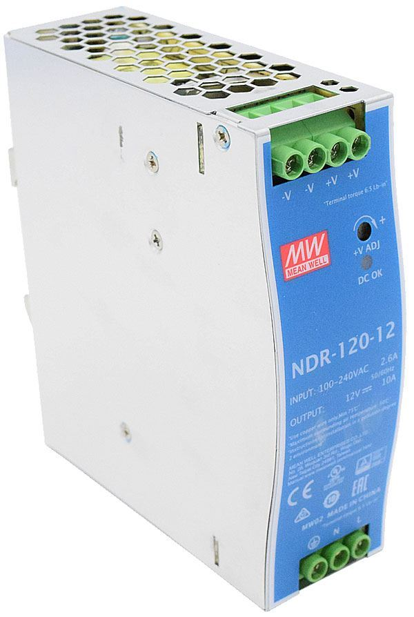 Průmyslový zdroj Mean Well NDR-120-12, 12V=/120W spínaný na DIN lištu