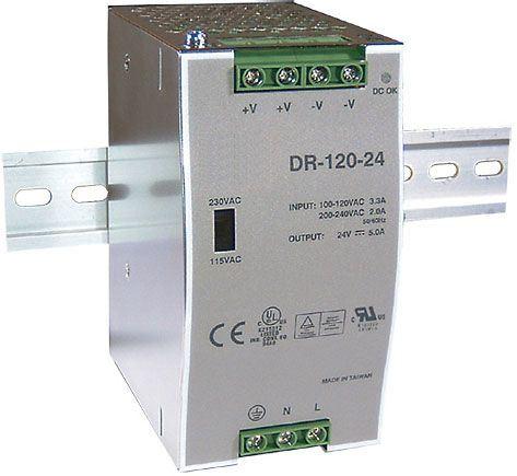 Zdroj 24V=/120W spínaný DR-120 na DIN lištu