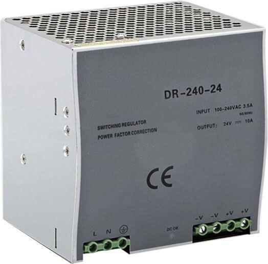 Průmyslový zdroj DR-240-24 24V=/240W spínaný na DIN lištu