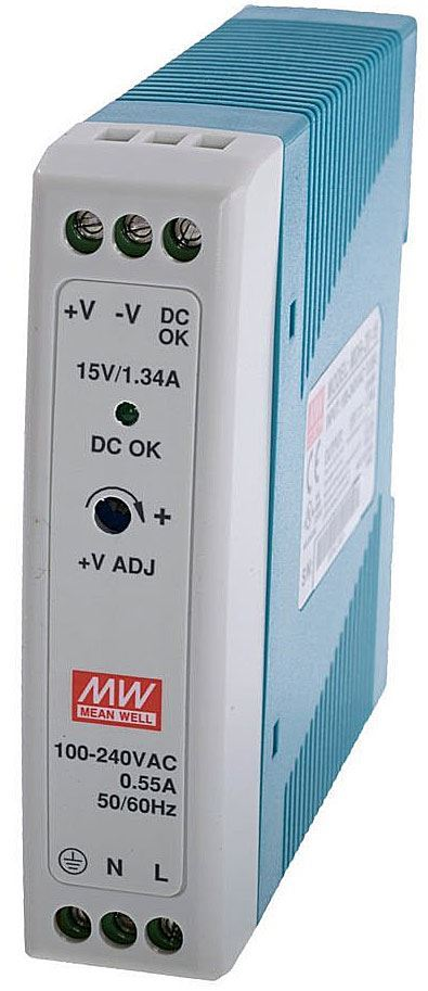 Průmyslový zdroj Mean Well MDR-20-12, 12V=/20W spínaný na DIN lištu