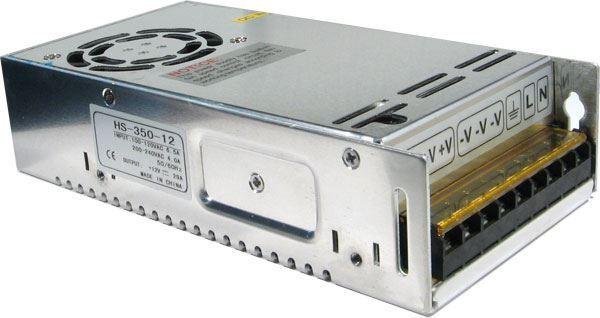 Průmyslový zdroj CARSPA HS-350/12, 12V=/350W nefunkční ventilátor