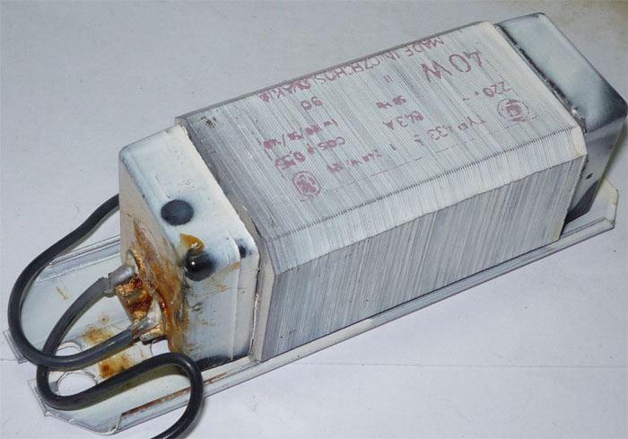 Tlumivka Elektrosvit 433 40W k zářivce, použitá