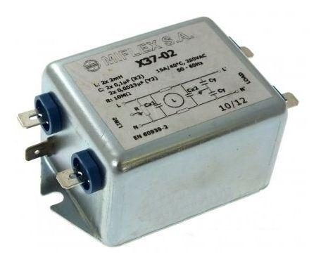 Odrušovací filtr X37-02 250VAC/15A 50-60Hz