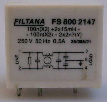 Odrušovací filtr FS 800 2147, 250V/0,5A