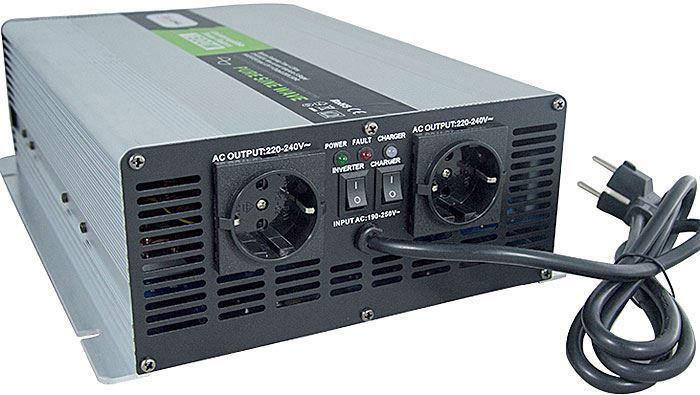 Měnič napětí+UPS+nabíječ 12V/230V/2000W, Soluowill NPS2000, čistá sin.