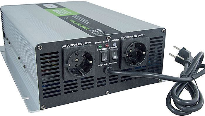Měnič napětí+UPS+nabíječ 24V/230V/2000W, Soluowill NPS2000, čistá sin.