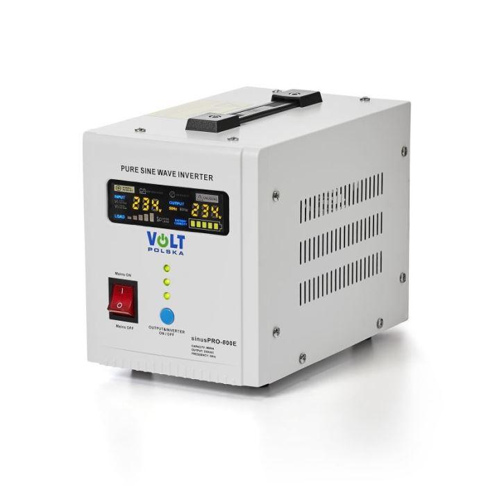Záložní zdroj - 800 VA/500 W, 12V/230V UPS, VOLTPOLSKA, čistá sinus