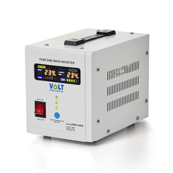 Záložní zdroj - 500 VA/350 W, 12V/230V UPS, VOLTPOLSKA, čistá sinus