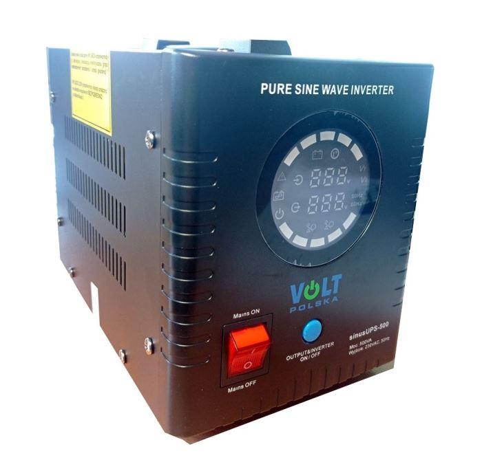 Záložní zdroj - 500 VA/350 W, 12V/230V UPS, čistá sinus
