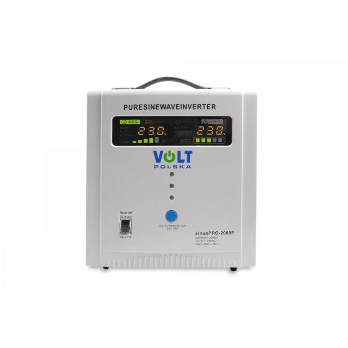 Záložní zdroj - 1250 VA/2000 W, 12V/230V UPS, VOLTPOLSKA, čistá sinus
