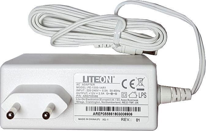 Napáječ, síťový adaptér LITEON 12V/2,5A spínaný, koncovka 5,5x2,1mm